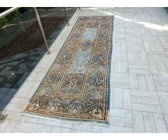 Iráni Kirman mintás 110x360 kézi csomózású, gyapjú perzsa futó szőnyeg