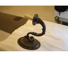 100 éves antik bronz lámpa