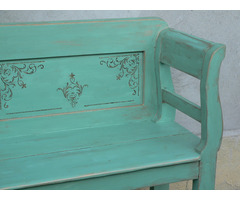 Antik festett lóca pad restaurált felújított vintage