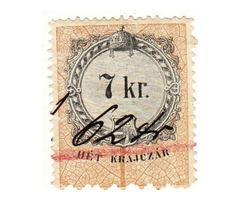 Magyarország adó és illetékbélyeg 1868