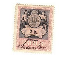 Magyarország koronás bélyeg 1898