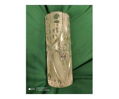 Kézzel csiszolt ólomkristály váza