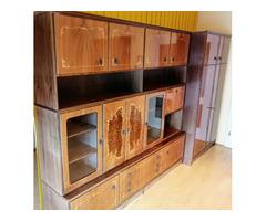 Intarziamintás, komplett nappali szekrénysor, kiváló állapotban