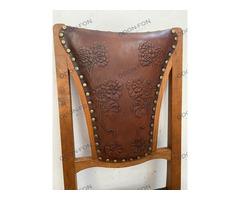 Szecessziós bőrborítású szék 6 db