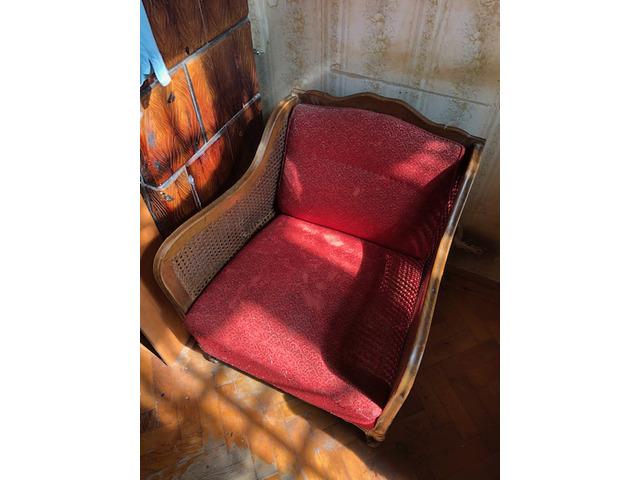 Antik nádszövetes ülőgarnitúra