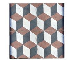 Régi szines Vasarely mintás cementlap