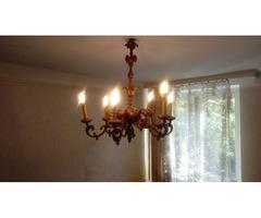 antik aranyozott barokk fa csillár