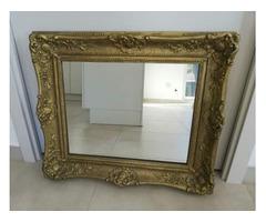 Barokk képkeret tükörrel