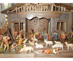 Karácsonyi Betlehem Marolin 34 szoborral