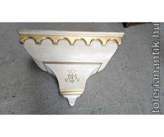 Nagyméretű egyházi fa fali posztamens