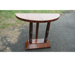 Art-Decó konzol asztal Felújítva.