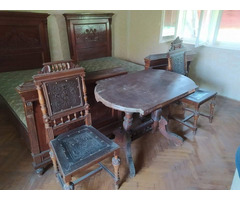 Hálószoba bútor+étkező asztal székekkel