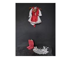 Gyermek magyaros menyecske ruha, csipkékkel
