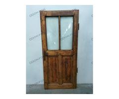 Üvegezett, 4 kazettás ajtó