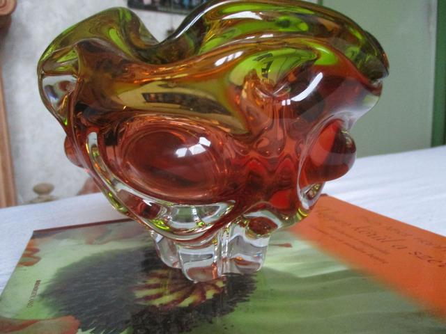Kristály üveg hamutál cseh
