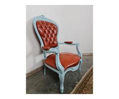 A166 Vintage bőr karfás szék