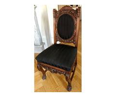 Gyönyörűen felújított neobarokk szék