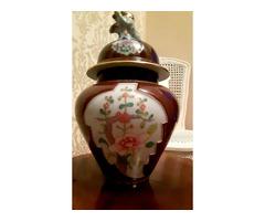 HERENDI fedeles váza,kutya forma fedél fogóval