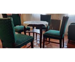 Zöld ülőgarnitúra+asztal