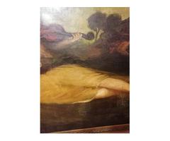 Színes Elemér női alakos óriás festménye