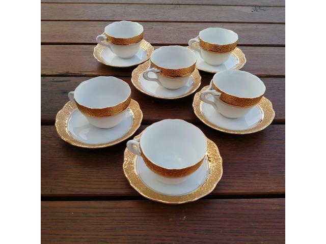 Csehszlovák teás, kávés csésze 6 személyes