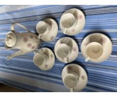Ritka virágmintás Hollóházi kávés készlet