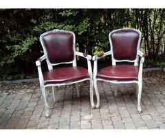 Francia barokk bőr székek párban