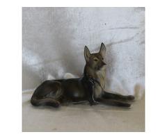 Hibátlan Hollóháza porcelán kutya