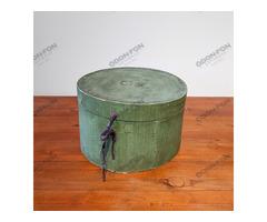 Zöld kalaptartó doboz