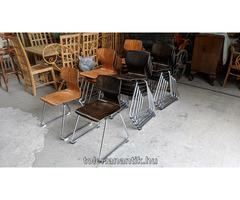 Crómozott fémlábas szék kétféle ülőlappal
