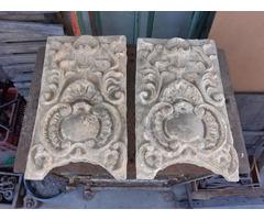 2 db antik épületdísz,kerámia