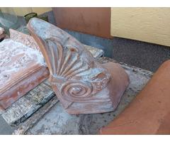 Antik kerámia épületdísz