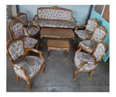 Antik szalon ülőgarnitúra 9 darabos