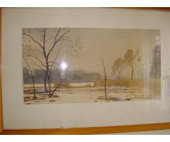 régi akvarell