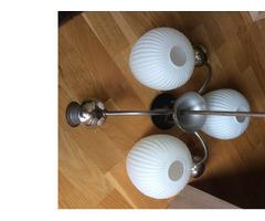 3 ágú csillár üveg lámpaburákkal