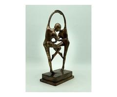 ART DECO bronz szobor- 38 cm-es, táncoló pár