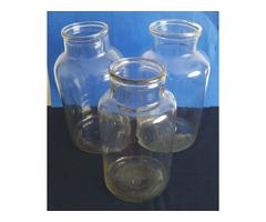 Antik fújt, huta befőttes üvegek