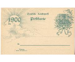 Képeslap Német Birodalom 1899