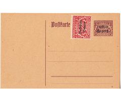 Képeslap Bajorország 1919