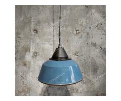 Vas-Fém Szarvasi ipari (kék) lámpa