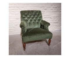 Zöld gombos huzatú fotel - 2 db