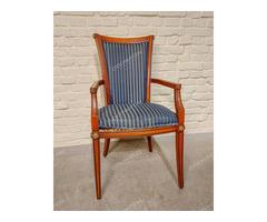 Kék huzatú karfás szék - 2 db