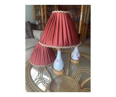 2 db antik porcelán lámpa