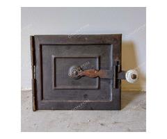Hamuzó ajtó kerettel, porcelán gombbal