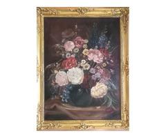 Virág csendélet- D.Benczúr Ida jelzéssel 60x80