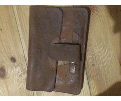 Antik-retro bőr ffi pénztárca-irattartó