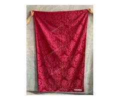 Bordó színű függöny selyem brokát