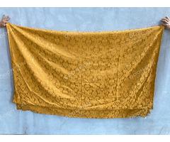 Narancs-arany mintás függöny selyem brokát